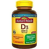 Nature Made Vitamin D3, 400 Tablets Mega Size, V