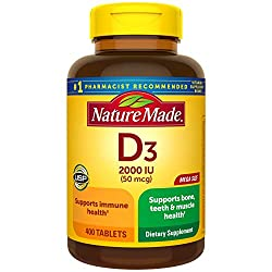 Vitamin D3 by Natures Bounty 2000 IU
