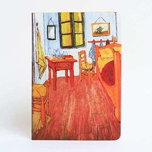 yangdan HF - Cuaderno de pintura al óleo, bloc de notas de sutura, libro de estudiante universitario, material de impresión A5 (color A8)