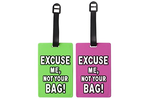Silicone Suitcase Luggage Tags ID Holder - Excuse Me, Not Your Bag