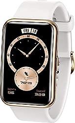 HUAWEI WATCH FIT Elegant Smartwatch, 1,64 Zoll AMOLED-Display, Persönlicher Coach, 10 Tage Akkulaufzeit, GPS, 5ATM, Herzfrequenzmessung - Exklusiv auf Amazon: 30 Monate Herstellergarantie -, Weiß