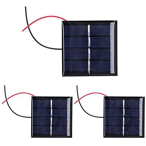 Mini Panel Solar, Micro Celdas de Panel Solar, batería de Bricolaje Duradera de 3 Piezas para proyectos domésticos, Aplicaciones electrónicas