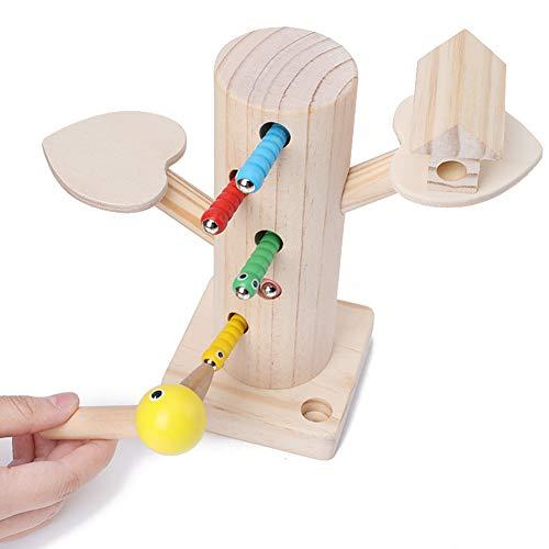 Kinnart houten magnetische vangst insecten spel speelgoed set, houten magnetische doen alsof vangen worm vissen insecten spel baby ontwikkelingsspeelgoed