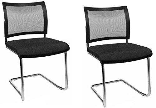 Moebel-Action 2 stuks Topstar stoel bezoekersstoel bureaustoel conferentiestoel Visit 20 NET