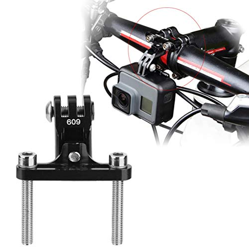 Kuuleyn Vástago de Montaje para Bicicleta GoPro, vástago de Bicicleta de aleación de Aluminio Adaptador de Montaje para cámara de acción Accesorio para Soporte de Flash para GoPro