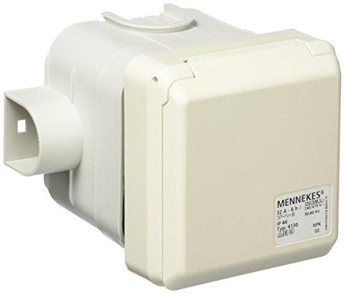 Mennekes (Unternehmen) 101100358Basen in System cepex-th, Steckdosen CEE, 400V, 50–60Hz, 32A, 5-polig, IP 44, 1Paket