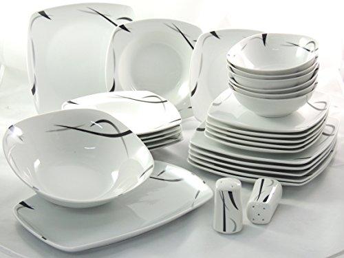 Service de table en porcelaine 28 pièces
