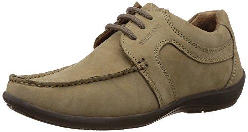 Woodland Men's Khaki Nubuck Leather Loafers - 10 UK/India (44 EU)
