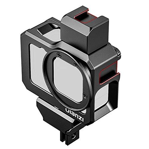 Hensych Metal Vlog caso jaula para GoPro Hero 9 negro cámara fría zapata 52mm filtro montaje Mic luz soporte carcasa micrófono adaptador Vlog Accesorios