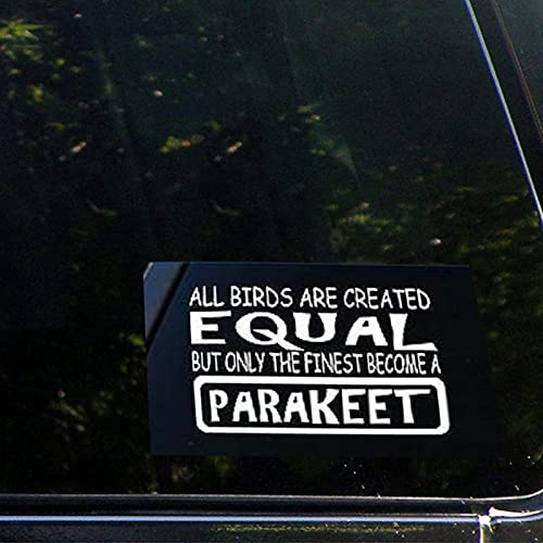 Parakeet Equal Birdcage Bird Swing Toy Bone Seed Talk Custom 8inch Cars Decal Sticker | Vinyl Auto Decals & Decal Sticker for Water Bottle,Laptop, Computer, Cup, Bumper,Trucks, Motorcycle.