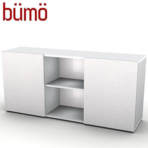 Hammerbacher kantoor dressoir met schuifdeuren | kantoorkast met opbergruimte voor mappen, boeken en materiaal | archiefkast in 5 kleuren grijs/zilver