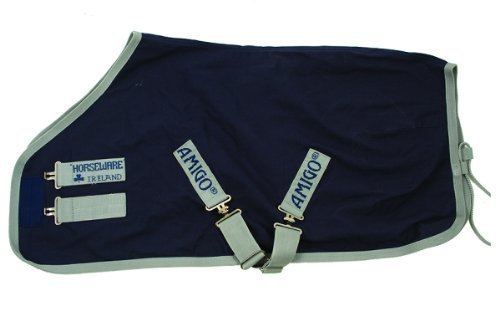 Horseware Amigo Stable Sheet 81 Navy/Silver by HORSEWARE PRODUCTS, LTD