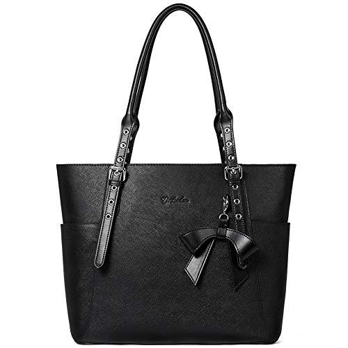 BOSTANTEN Leder Businesstasche Damen Handtaschen Schultertasche Umhängetasche 15.6