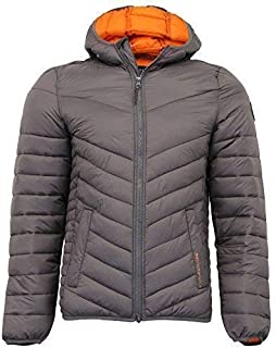 Crosshatch Mens Jacket Coat Padded Wadded Quilted Bubble Hoodie Lined Winter New