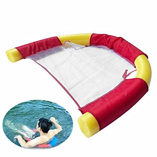 B/C Floating Pool Noodle Chair, Mesh U-Seat Flexible Portable Swimming Pool Float Chairs for Kids and Adult