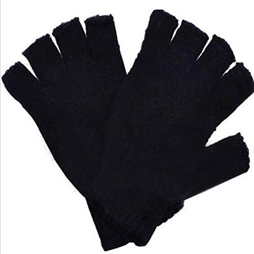NUOMIZAI Gestrickte Handschuhe-3 Paar Kurze halbe Finger Strickhandschuhe Winter warme Handschuhe