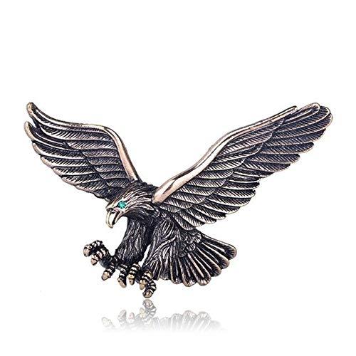 Joyería Vintage de Color plateado antiguo, broche de águila voladora, accesorios para bufanda para hombres y niños, color dorado