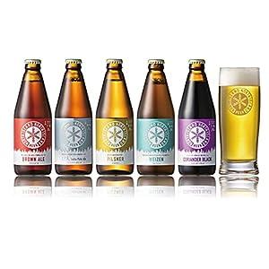 "【NORTH ISLAND BEER 公式 Amazon店】 ノースアイランドビール オリジナルグラス付き セット (定番ビール5..."""