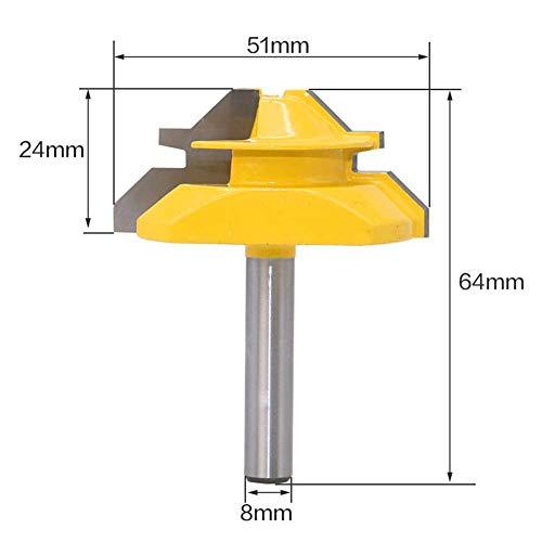 45-Grad-Verriegelungslaschenfräser abgeschrägt, gerades Schneidewerkzeug, Holzschneidewerkzeug, 45-Grad-Verriegelungsschrägfräser, 8 * 2