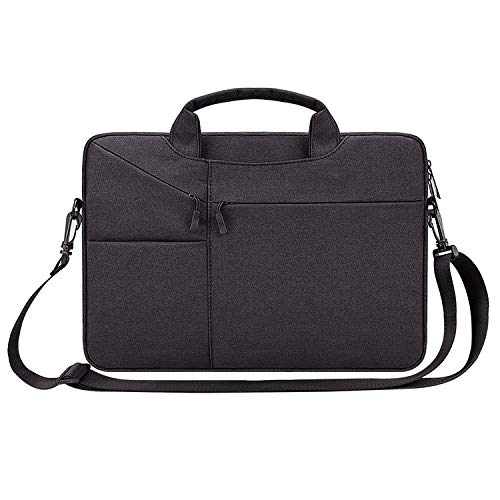 WuqiAng Wwd ST02S Waterproof Tear Resistance Hidden Portable Strap One-shoulder Handbag for 13.3 inch Laptops, with Suitcase Belt(Black),laptop bag (Color : Navy Blue)