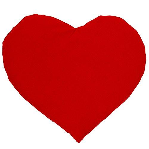Kirschkernkissen Herz ca. 30x25cm - rot - Wärmekissen - Körnerkissen - Ein charmantes Geschenk