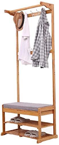 Minimalista for Suelo Perchero Dormitorio de Madera sólida de múltiples Funciones de Almacenamiento Foyer del Asiento del Zapato Banco 175x40x70cm Taburete Cambiar Zapatos