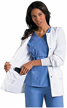 Landau Women s Modern Ipad 28 Frac78 Lab Coat X Small White product image