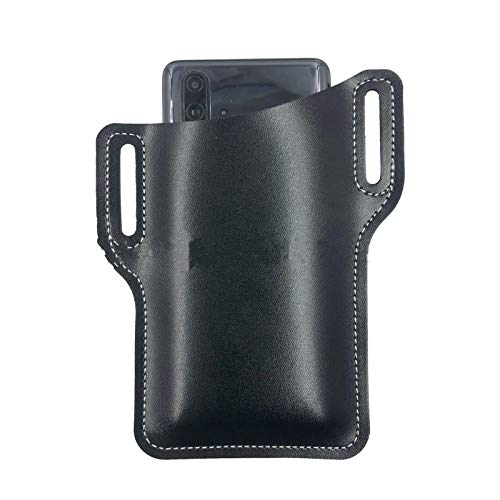 Leather Men Belt Pouch, Leather Waist Belt Loop Cellphone Phone Protection Case Bag Holster, Waist Cell Phone Bag, EDC Portable Outdoor, Leather Phone Storage Bag for Women Men