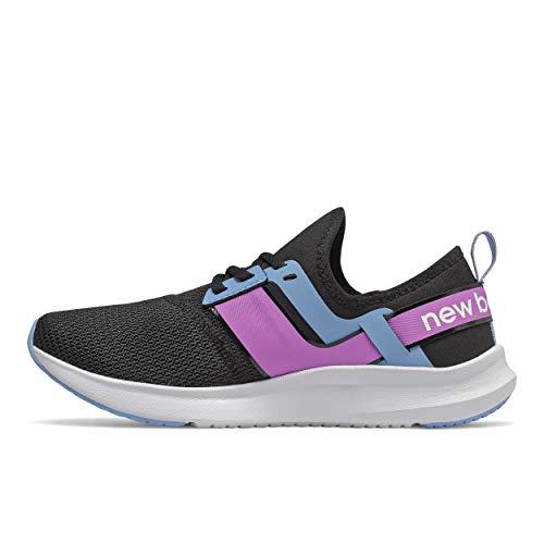 New Balance Women's FuelCore Nergize Sport V1 Sneaker, Black/Neo Violet/Team Carolina, 11 M US