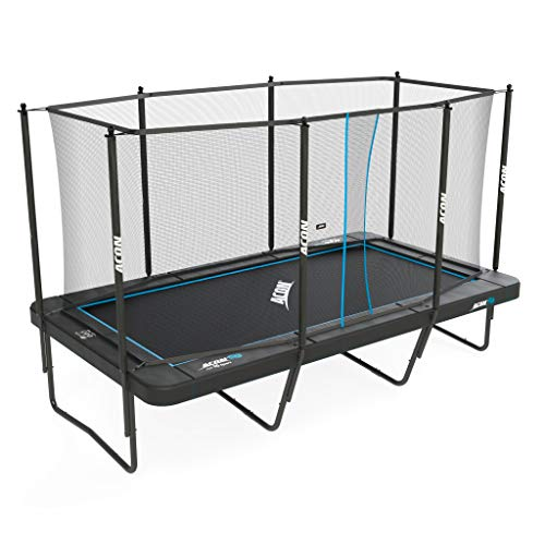 Acon Trampoline Air 16 Sport HD with Enclosure | Includes 10x17ft Rectangular Trampoline, Safety...