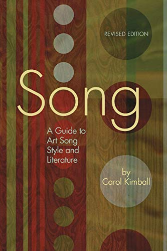 Song: A Guide to Art Song Style and Literature (LIVRE SUR LA MU)