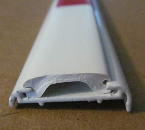 Best Bargain 92 White Aluminum Vinyl Insert Type RV Flat Molding Trim 1 1/8 x 1/8 Leg