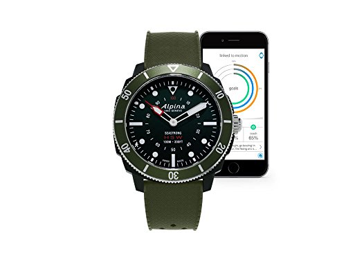Alpina Watch AL-282LBGR4V6 Nero, Verde smartwatch