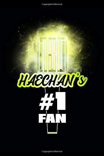 Haechan s #1 Fan: NCT Glowing Lightstick 120 Page 6 x 9  Lined Notebook Kpop Fandom Merch Journal Book