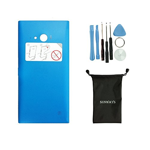 Sunways Housing Blue Back Cove Battery Cover Door Replacement for Nokia Lumia 730 735 with Device Opening Tools
