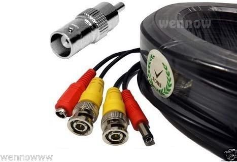New color WennoW Premium Quality 100 Feet Video Cable Lorex Tucson Mall Power and for