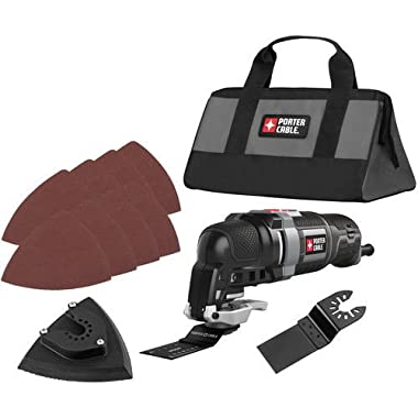 Porter-Cable PCE606KR 3.0 Amp Oscillating Multi-Tool Kit with 11 Accessories (Certified Refurbished)
