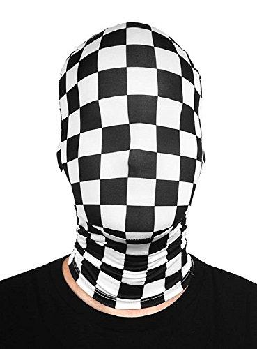 Morph Maske Kostüm Zubehör kariert schwarz weiss
