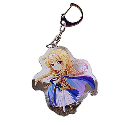 BJSBJD Llavero Anime Sword Art Online Alice Game Personaje Llavero, Juego de Roles Llavero Accesorios Colgantes, Adecuado para Regalos para Adolescentes y niños,6×4,1 cm