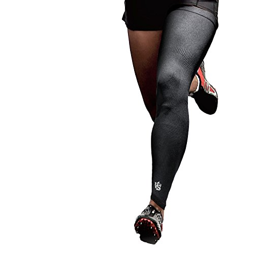 Vital Salveo - Germanium Recovery Compression Outdoor Full Length Leg Knee Sleeve(1 PC)-Large