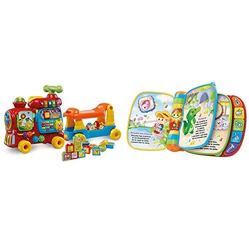 VTech - Maxi Tren 5 en 1, Juguete Evolutivo con Cinco Modos de Juego, Panel de Actividades + Primeras Canciones, Libro Interactivo para bebé +6 Meses con Las Canciones Infantiles más Populares