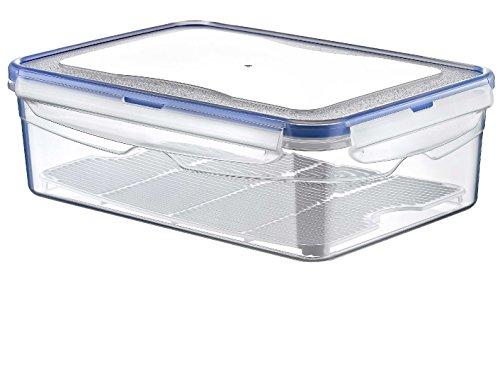 Hobby Life - Contenitore ermetico in plastica, per alimenti, capienza 2,6 litri, rettangolare e trasparente