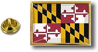 Akacha Spilla Pin pin's Spille spilletta Bandiera Badge USA Americana Maryland