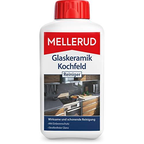 MELLERUD Glaskeramik Kochfeld Reiniger – Effizientes Mittel zur Reinigung von Eingebranntem und Verschmutzungen – 1 x 0,5 l