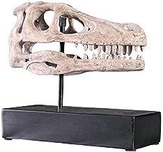 Design Toscano NE100503 Velociraptor Dinosaur Skull Fossil Statue on Museum Mount, Full Color