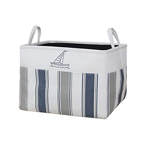 Bellissimo contenitore pieghevole in tessuto per riporre i vestiti, cestino per giocattoli per bambini, contenitore ispessito per armadio, barca a vela, 39 x 32 x 27 cm