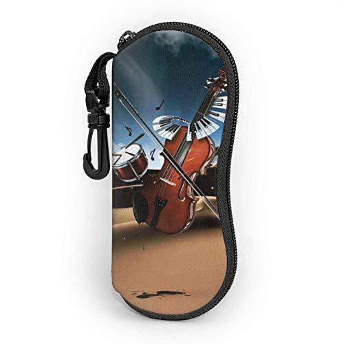 GOSMAO Funda Gafas Música del desierto Neopreno Estuche Ligero con Cremallera Suave Gafas Almacenaje