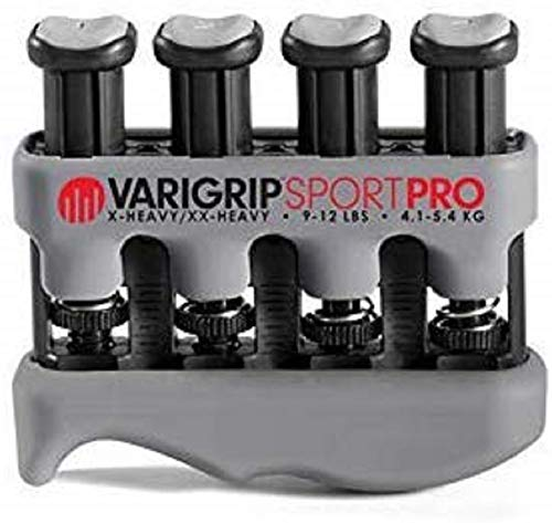 Dynatomy VariGrip Sport PRO Fortalecedor de dedos, resistencia ajustable, extra pesado, ultra extra pesado, ejercitador de dedos, de manos, fortalecedor de agarre, formador de callos, (VGSP-PRO)
