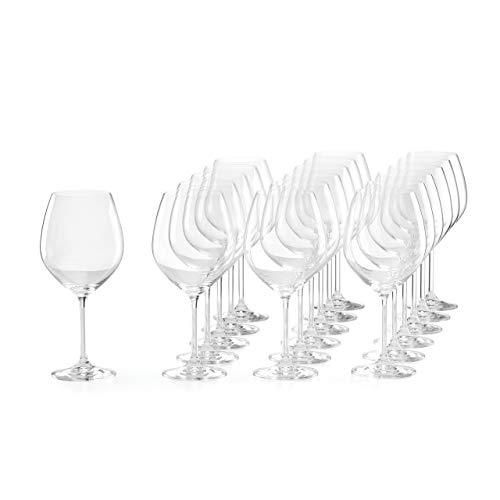 Lenox 891671 Tuscany Classics 18-pc Red Wine Glass Set, 16.9 LB, Clear