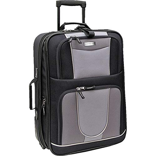 Geoffrey Beene Luggage 21 Inch Wheeled Carry-On (Black and Gray)